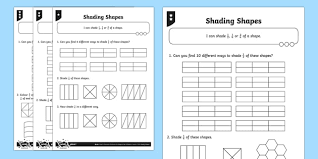 l shade shapes shade 1 2 1 4 or 2 4 of a shape differentiated worksheet