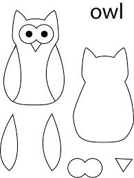 printable owl template for kids