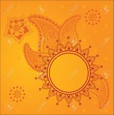 traditional design traditional yellow indian henna design background with space