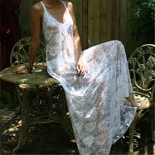 Honeymoon Nightgowns Aliexpress Com Buy White Lace Backless Nightgown Bridal Lingerie