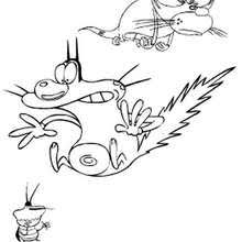 oggy cockroaches coloring pages 9 printables