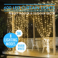 led christmas icicle string net curtain lights outdoor fairy party
