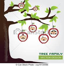 eps vectors of family tree gray background vector