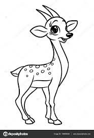 antelope animal coloring pages cartoon u2014 stock photo efengai