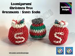 loomigurumi christmas tree ornament santa sack amigurumi w