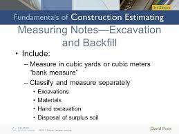 Excavation Estimating by Measuring Sitework Excavation And Piling Ppt