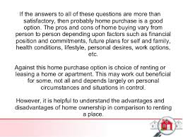 pros and cons of renting a house lease a house or buy a home