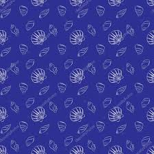 navy blue wrapping paper seashell marine pattern in navy blue and white outline stock