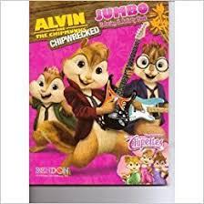 alvin u0026 chipmunks chipwrecked jumbo coloring u0026 activity book