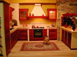yellow and red kitchen ideas antique red kitchen cabinets decorating the retreat pinterest