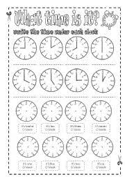 worksheet time telling practice sheets