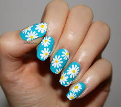 robin moses nail art soft spring daisy nail art tutorial on pink