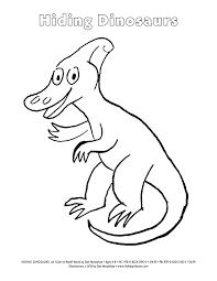 hiding dinosaurs by dan moynihan parasaurolophus coloring sheet