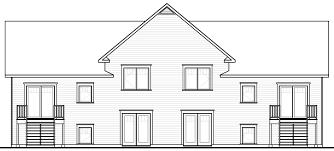 28 multi unit home plans home plan rear elevation multi