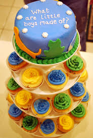recipe baby boy shower cake cupcake tower by three square petit