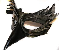 venetian bird mask silver obsidian bird mask handmade leather venetian masquerade