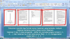 cara membuat nomor halaman yang berbeda di word 2013 copy of cara membuat nomor halaman berbeda dalam satu file word