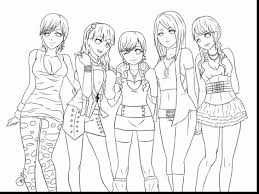 unbelievable anime friends coloring pages with anime