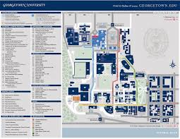 Washington University Campus Map by Campus Map Georgetown University Student Centers Georgetown