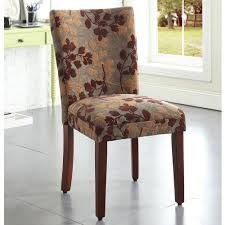 homepop classic sage leaf pattern fabric dining chair by homepop