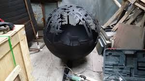 Sphere Fire Pit by Spherical Fire Pits Tavistock Salvage Centre