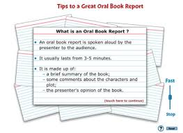 Ethan s  th Grade Oral Book Report
