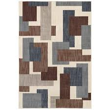 mohawk home area rugs shop mohawk home barrage beige rectangular indoor machine made