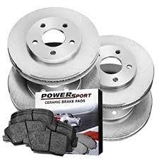2007 honda accord rotors amazon com kit replacement brake rotors and ceramic brake