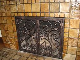 fireplace screens san diego ornamental iron
