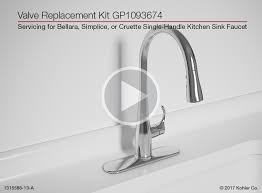 single kitchen sink faucet valve replacement for bellera simplice