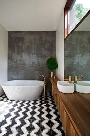 Bathroom By Design by Brass Tapware In This Earthy Bathroom By Auhaus Architects Http