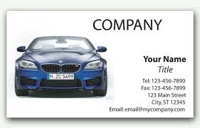 Car Name Card Design Bmw Business Card Vehicle Front View
