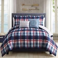 King Size Comforter Sets Bed Bath And Beyond Breezy Plaid 5 Piece Comforter Set Bedbathandbeyond Com