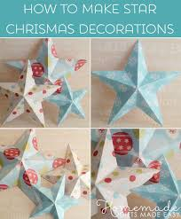 making christmas decorations 3d paper stars templates and
