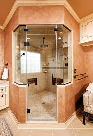 folding shower seat bathroom traditional with crown molding faux