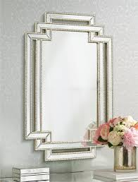 Decorative Mirrors For Bathrooms by Amazon Com Erte Openwork Silver Beaded 27 U0026quot X39 1 2 U0026quot Wall