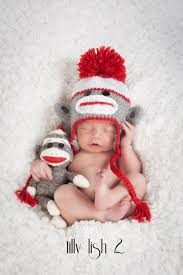 Sock Monkey Baby Bedding Baby Boy Hat Toddler Sock Monkey Child Sock Monkey Hat