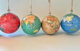 3 customized world globe ornament globe and