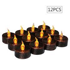 fake tea light candles flameless tea lights electric battery fake tealight brown led