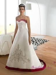 corsage fã r brautkleid herzausschnitt rot und weiß klassisch hochzeitskleid corsage