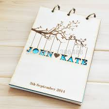 personalized wedding guest book personalized wedding guest book rustic wedding guestbook album