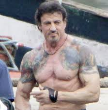 sylvester stallone muscles tattoos photos pictures and sketches