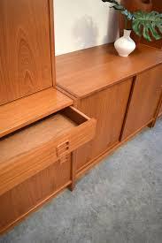 danish modern secretary desk danish teak 5 piece wall unit secretary desk bookcases sold