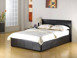 Double Faux Leather Bed Frame by New Double Brown Fusion Ottoman Storage Bed Mega Offer Now On
