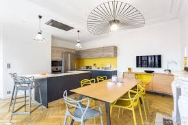 cuisine moderne et design cuisine et salon moderne inspirational awesome deco salon blanc gris
