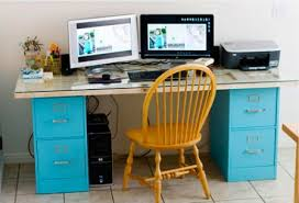 Diy Desk With File Cabinets Desk File Cabinet With Filing Best Furniture Office Intended For