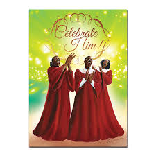 black christmas cards celebrate him american christmas cards