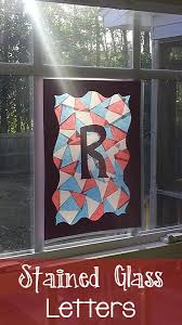 stained glass letters prekinders