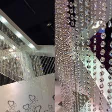 Decor Beaded Window Curtains Beaded by Amazon Com Clear Acrylic Crystal Beads Strand Window Door Wedding