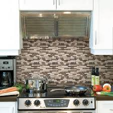 How To Install Peel And Stick Backsplash by Kitchen Peel And Stick Backsplash Aspect 6 X 24inch Iron Slate